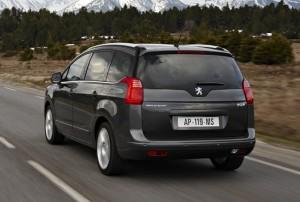Peugeot 5008 en vue arriere