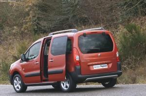 Ludospace Peugeot partner teepee en vue arriere